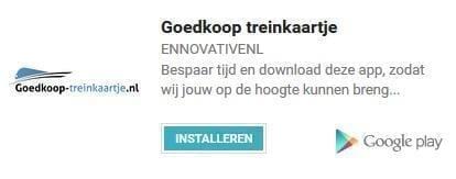 Mobiele app Goedkoop-treinkaartje.nl