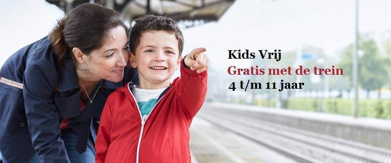 Kinderen gratis met trein