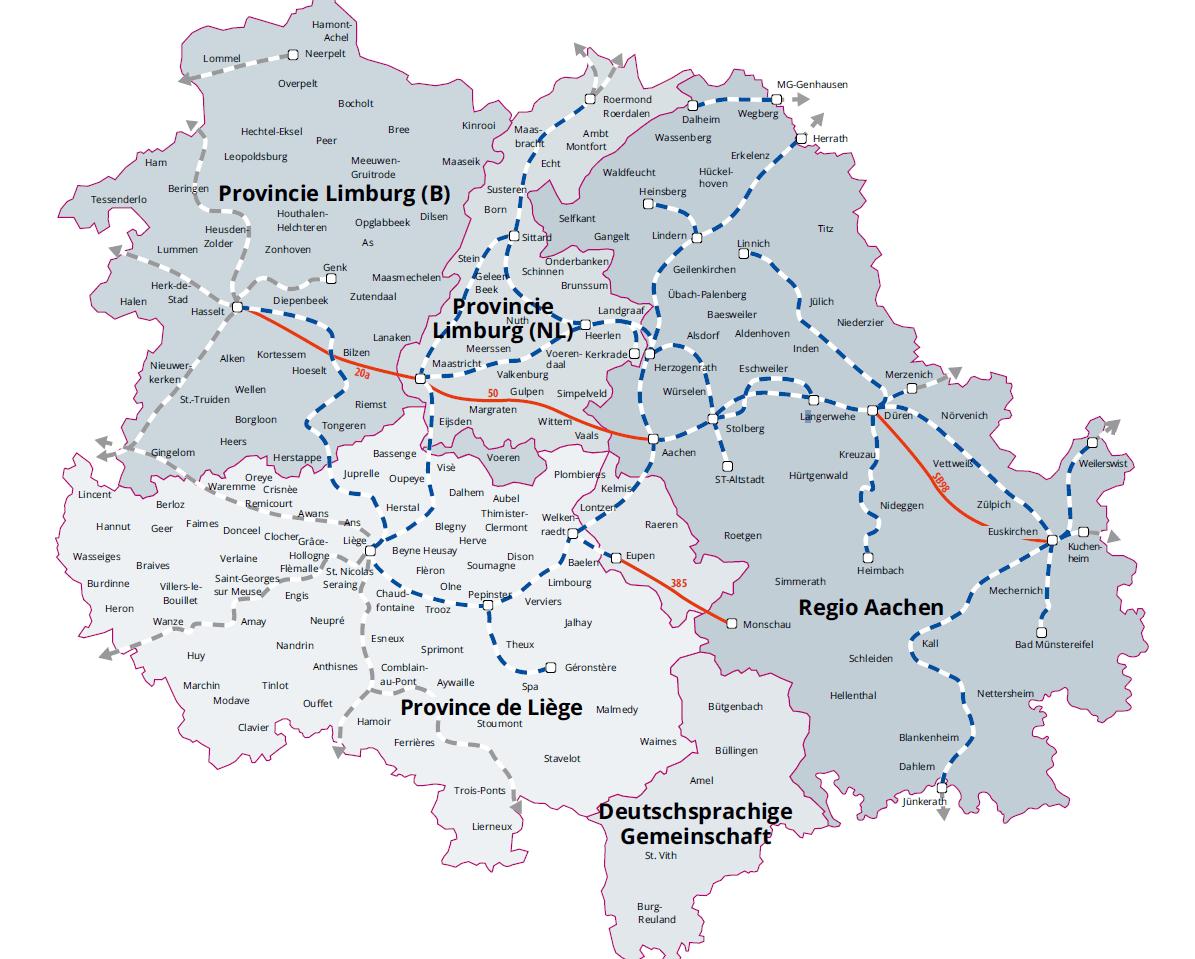 Maas-Rijn gebied - Euregio