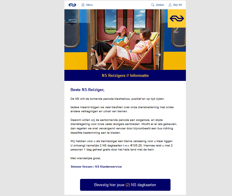 Valse e-mail NS