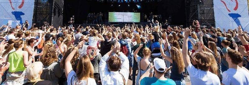 Trein naar Bevrijdingsfestival op 5 mei