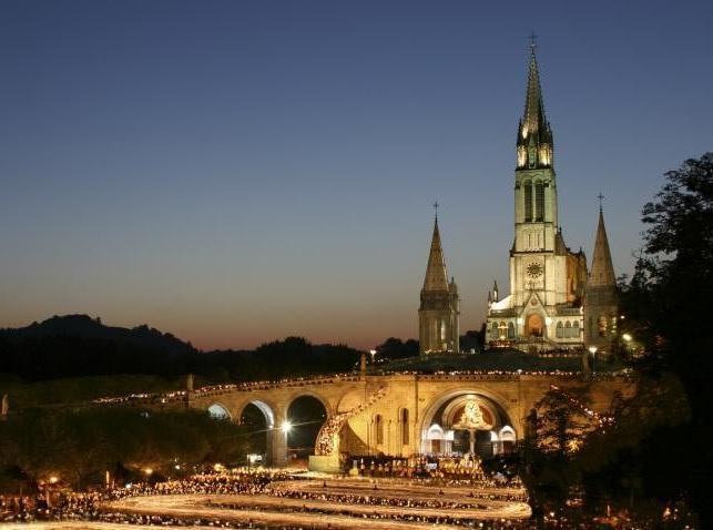 Trein naar Lourdes