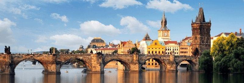 Trein naar Praag in Tsjechie