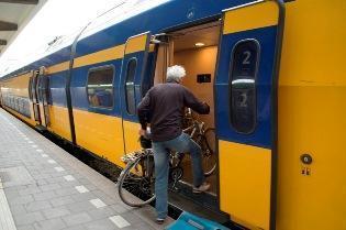 Fiets in trein