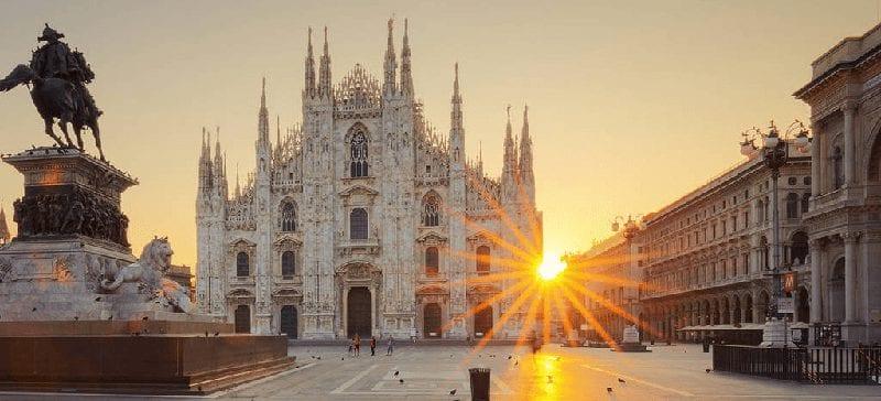 Treinreis naar Milaan