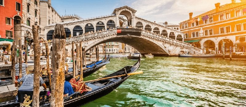 Treinreis naar Venetie