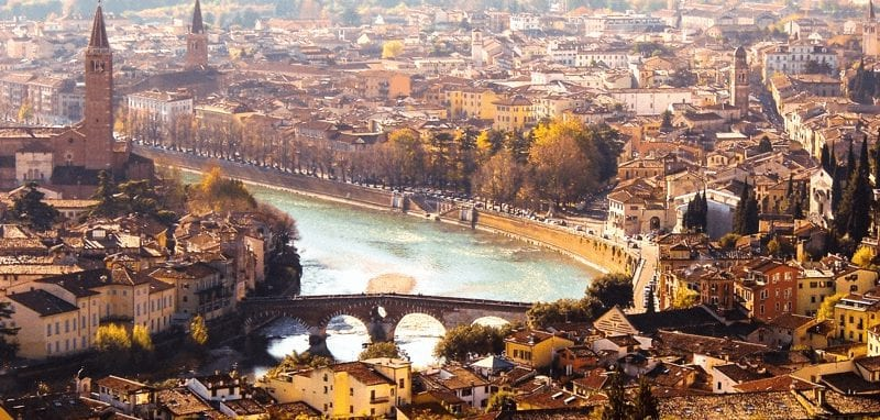 Treinreis naar Verona