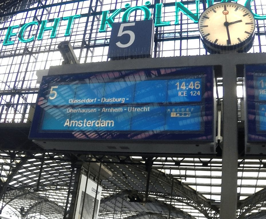 Reisinformatie Keulen Amsterdam