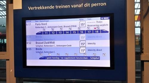 Informatiebord Thalys
