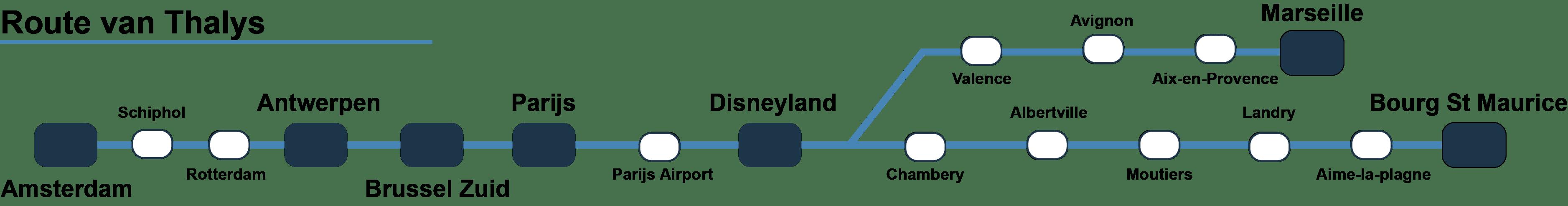 Route Thalys naar Landry