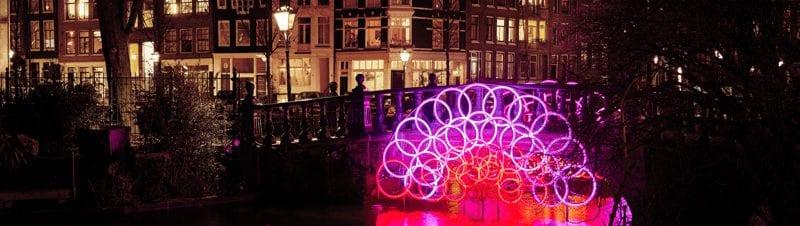 Trein Amsterdam Light Festival