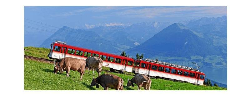 Rondreis per trein door Zwitserland en Italië