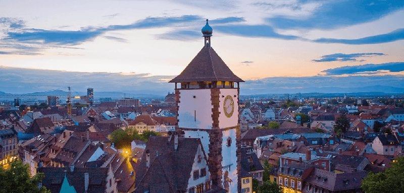 Trein naar Freiburg