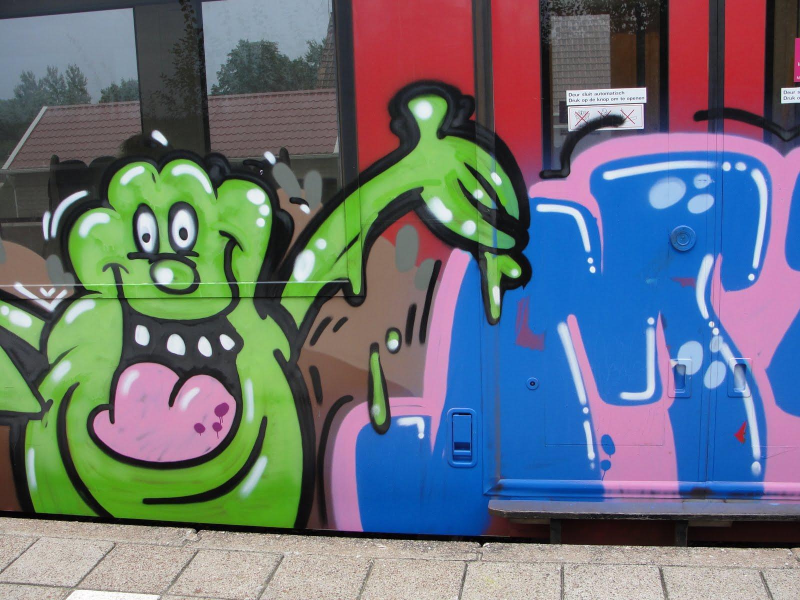 NS jaagt op graffitispuiters met drones