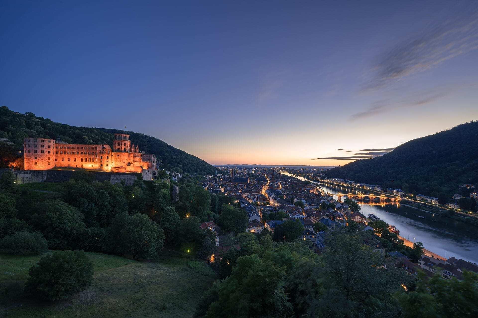 Trein naar Heidelberg
