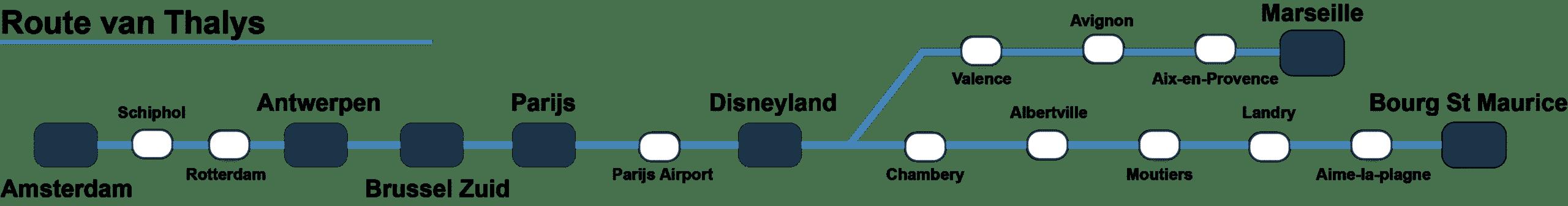 Route Thalys Parijs